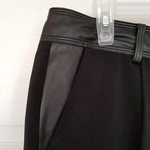 NWOT Ann Taylor Faux Leather Trim Pintuck Pants